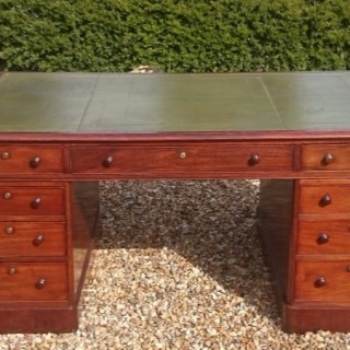 Early Nineteenth Century Antique Partners Pedestal Desk