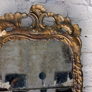 A Beautiful Mid-18thC Italian Giltwood Pier-Glass Mirror c.1750-60