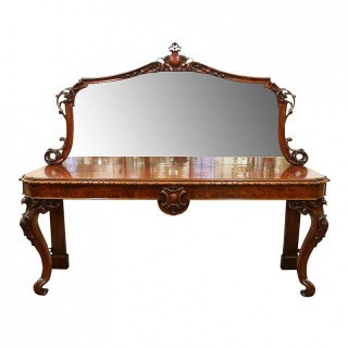Victorian Carved Mahogany Hall/Serving Table