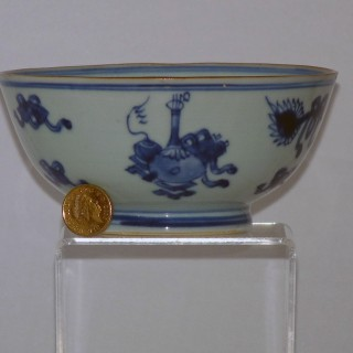 Chinese Transitional Blue and White Porcelain Bowl