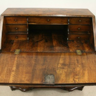 Continental Walnut Serpentine Bureau