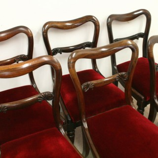 Set of 6 Early Victorian Rosewood Dining Chairs