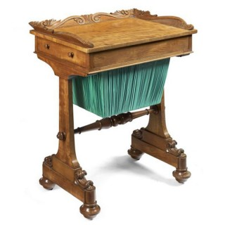 Victorian Satinwood Work Table/Side Table