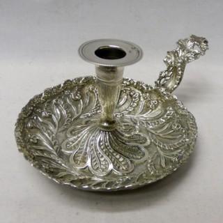 Antique Turkish Silver Chamberstick