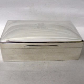 Antique Silver Cigar Box