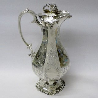 Antique Silver Wine Ewer