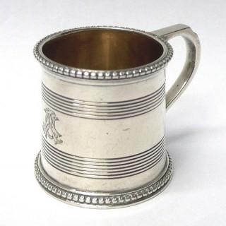 Miniature Antique Silver Mug