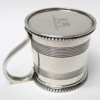 Miniature Antique Silver Mug