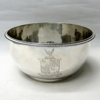 Large George III Silver Bowl by Paul Storr