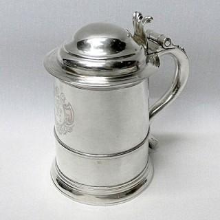 George I Silver Lidded Tankard