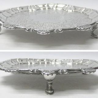 George II Silver Salver by Ebenezer Coker