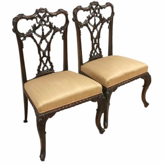 Pair of George III Style Chippendale Chairs
