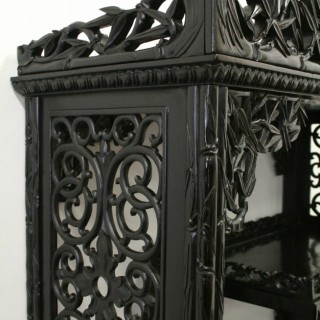 Chinese Carved Cabinet/Whatnot