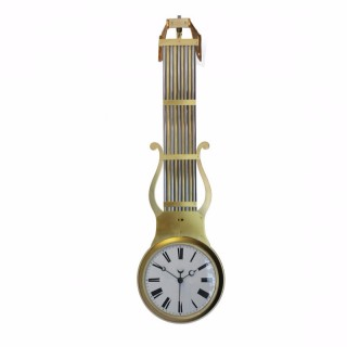 Double Dial Swinging Pendulum Clock