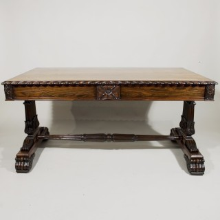 A George IV Period Rosewood Library Table