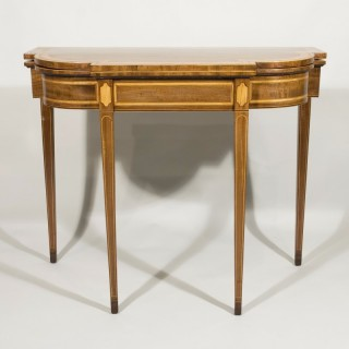 A Sheraton Period Mahogany Breakfront Card Table