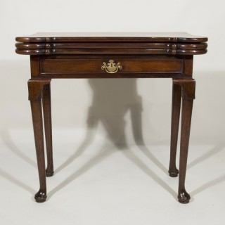 A George II Walnut Triple Top Card Table