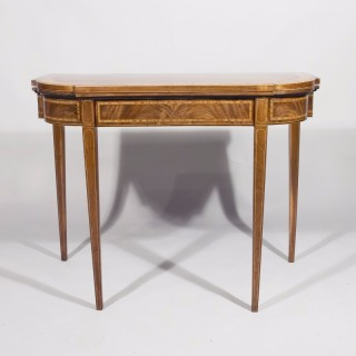 A Late 18th Century Breakfront Mahogany Card Table