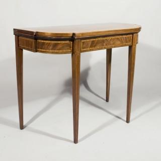 A Late 18th Century Breakfront Mahogany Card Table