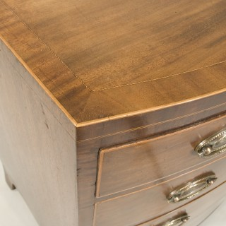 A George III Hepplewhite Period Mahogany Bow Fronted Chest of Drawers
