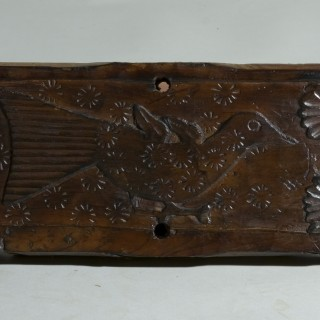 A Pair of Yew Wood Architectural Folk Panels Of Birds