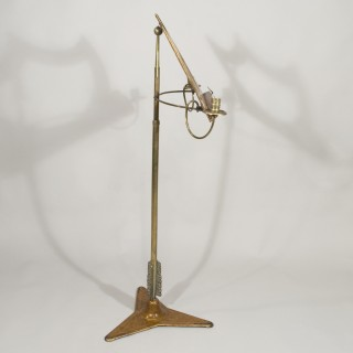 A Regency Period Painted and Gilded Music Stand