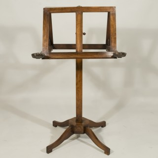 An Early 19th Century Mahogany Double Music Stand