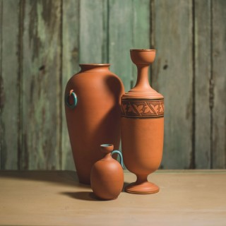 Trio Of Pottery Vases