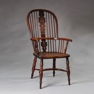 YEW WOOD HOOP BACK WINDSOR CHAIR