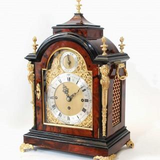 Chiming Tortoiseshell Bracket Clock by Lambert, London