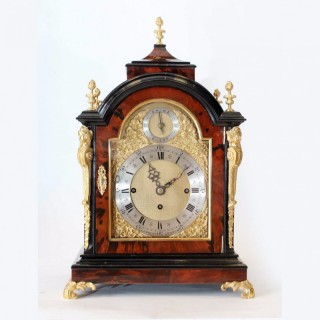 Chiming Tortoiseshell Bracket Clock by Lambert, London