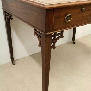 George III Mahogany Library Table/Desk