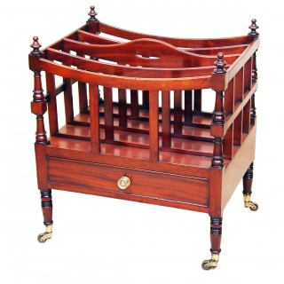 Antique Regency Mahogany Canterbury