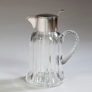 Asprey & Co Ltd .925 Silver and Cut Crystal Lemonade Jug