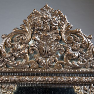 19th Century Dutch Bronzed and Ripple Moulded Pier Mirror