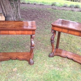 Antique Pair of Italian Console Tables