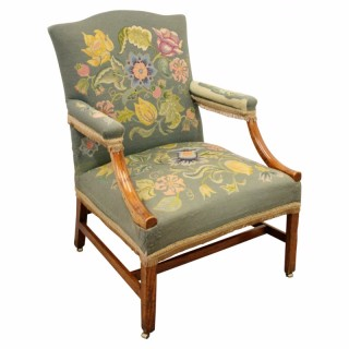 George III Elm Gainsborough Armchair