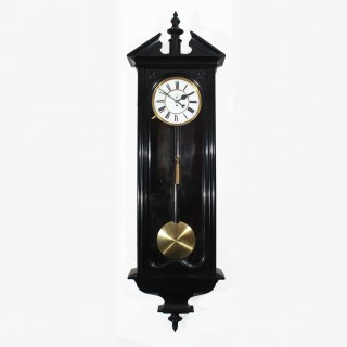 Ebonised Giant Vienna regulator timepiece, late C19th