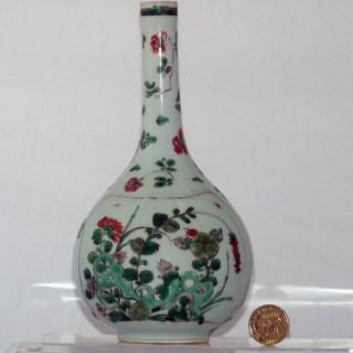 Kangxi Famille Verte Porcelain Bottle Vase