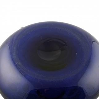 Scottish Blue Glass Decanter