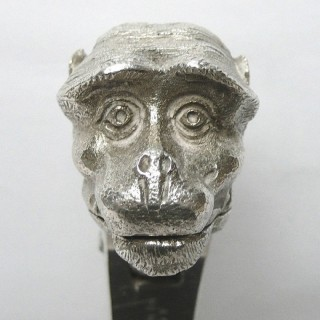 Antique Silver Plated Monkey Nutcracker by Asprey