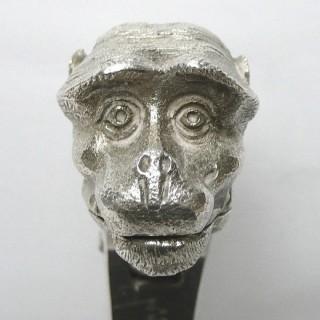 Antique Silver Plated Monkey Nutcracker by Asprey