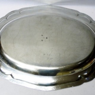 Antique George III Silver Serving Dish and Mazerine