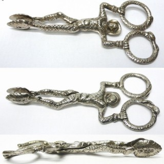 Antique Silver Harlequin Sugar Nips