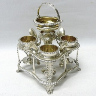 Georgian Silver Egg Cruet