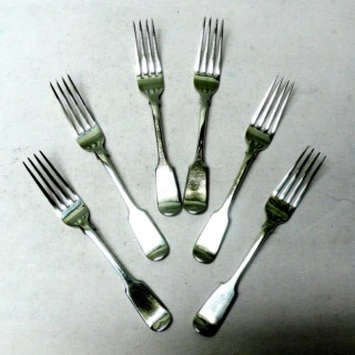 Antique Silver Dessert Forks