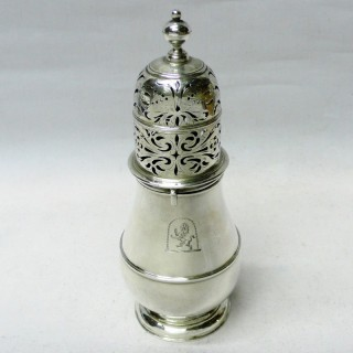 Antique Queen Anne Silver Caster