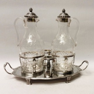 Antique French Silver Oil and Vinegar Set