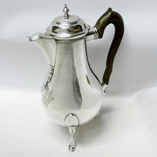 Antique Swiss Silver Coffee Pot