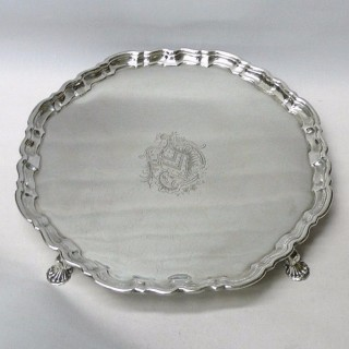 Antique George II Silver Salver